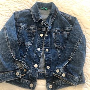 Benetton baby jeans jacket size 28-24